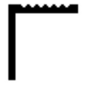"""Alumínium fogazott """"L"""" profil 6m"""