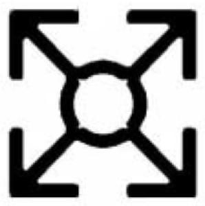 Alumínium installációs profil 6m