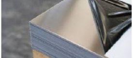 Rozsdamentes polírozott fóliázott lemez